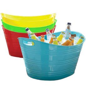 rex bathtub party plastic beverage tubs large party tub with rope handles