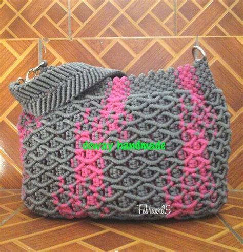 jual buku cara membuat tas dari tali kur jual tas macrame motif cacing sisik ikan macro