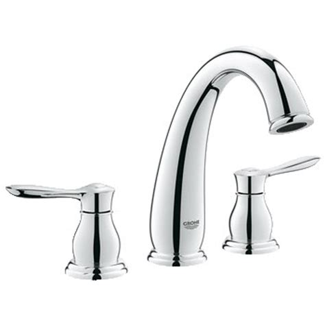 grohe parkfield bathroom faucet grohe parkfield 3 hole roman tub faucet starlight chome