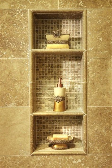 bathroom shelf ideas pinterest built in shelves in shower every shower should have these