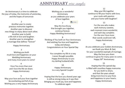 Wedding Anniversary Verses by Handmade Anniversary Card
