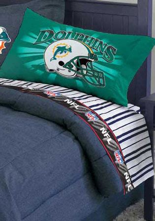 miami dolphins nfl twin chenille embroidered comforter set with 2 shams 64 x 86 miami dolphins size pinstripe sheet set