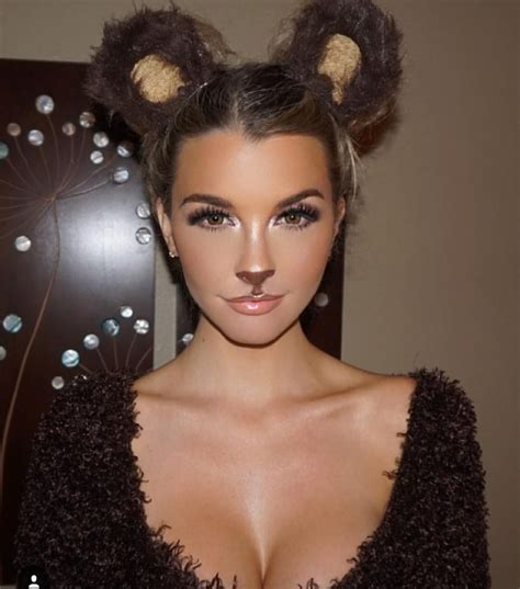 diy halloween costume ideas bear cat ears hairstyle loved this bear halloween makeup on the beautiful