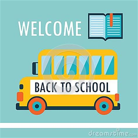 welcome back to school background flat design template