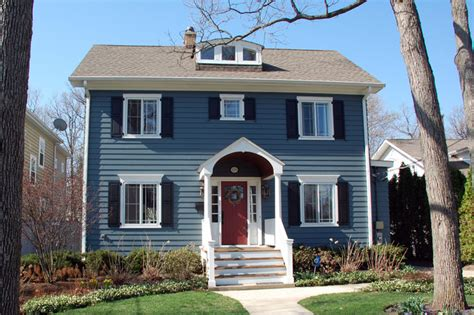 glencoe il colonial style home in artisan siding artisan trim traditional exterior