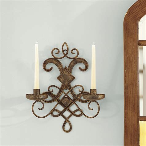 Iron Candle Sconces by Mavelot Candle Sconce Taper Sized Candleholders