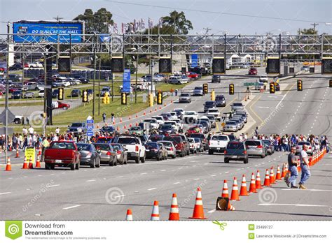 motor speedway traffic conditions nascar pre race traffic editorial photography image