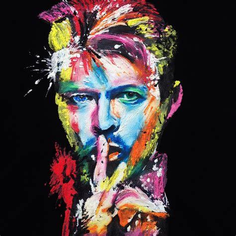 david bowie color david bowie neon t shirt wearable colorful painted 3d