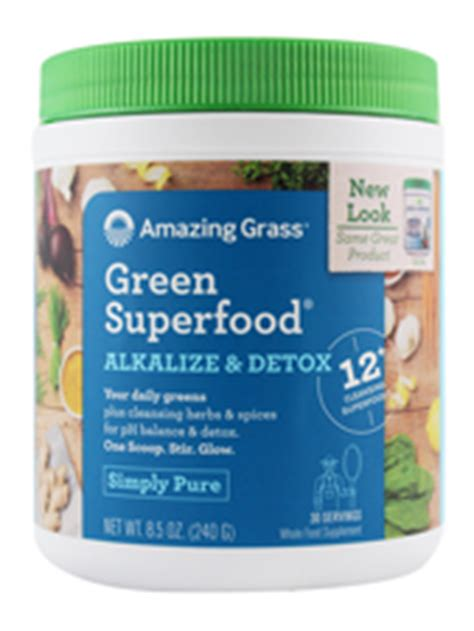 Green Superfood Amazing Grass Alkalize And Detox by Amazing Grass Alkalize Detox Green Superfood