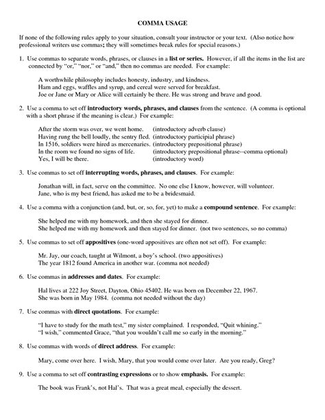 Quotation Worksheets High School