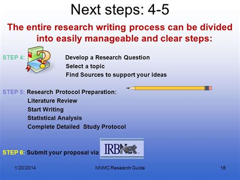 what are the steps in writing a research paper how to start research at nnmc ppt