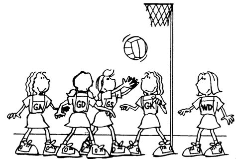 coloring pages netball arncliffe home
