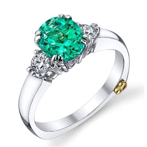 engagement rings with colorful stones