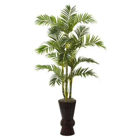 artificial decorative trees for the home 62 quot silk areca tree with decorative planter artificial trees silk trees