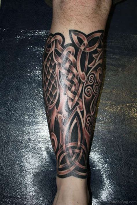 tattoos for mens legs 52 cool celtic tattoos design on leg