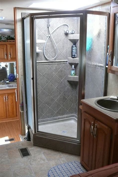 Rv Glass Shower Door 150 Best Images About Cargo Trailer Conversion On Pinterest