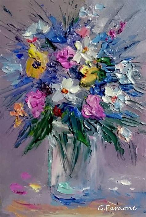 fiori dipinto fiori dipinto a spatola di giuseppe faraone giuseppe faraone