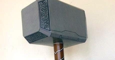 Thor Mjolnir Avengers Version Papercraft Jpg Thor Hammer Printable Template
