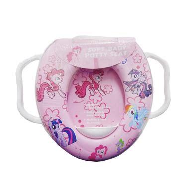 Soft Baby Potty Seat With Handle Karakter Cinderella Toilet jual soft baby potty seat pony with handle toilet