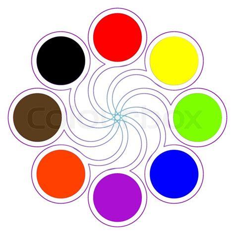 8 basic colors runde farbpalette mit acht grundfarben stock vektor