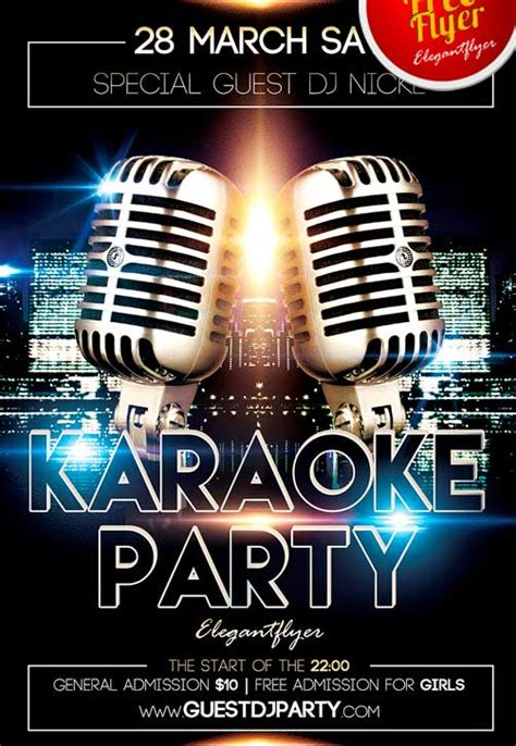 free templates for karaoke flyers download free karaoke flyer psd templates for photoshop