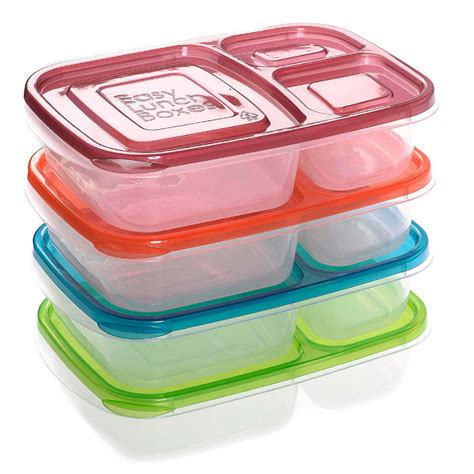 Gig Baby Rectangle Lunchbox 3 compartment rectangle plastic lunch box sh ebay