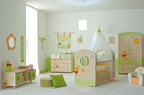 Nice Baby Nursery Furniture Set With Winnie The Pooh From Nursery Room Furniture Sets