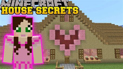 Minecraft: SECRETS IN MY HOUSE!!   FIND THE BUTTON PAT