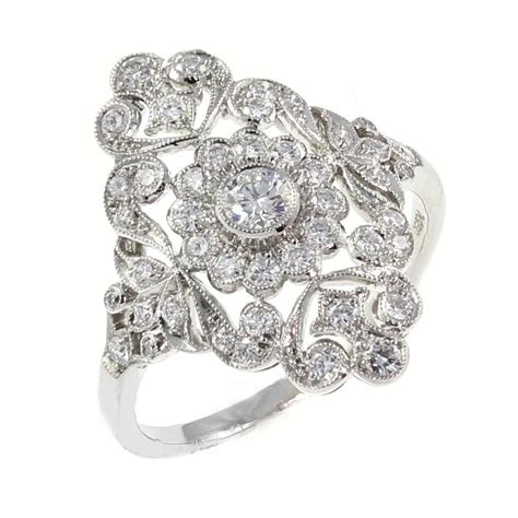 deco ring styles sheldon bloomfield platinum 0 62ct deco style