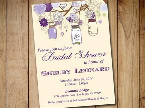 jar bridal shower invitations templates rustic bridal shower invitation template jar
