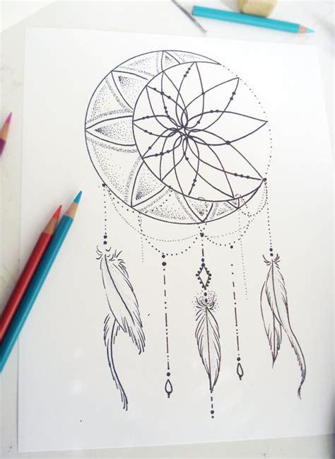 dreamcatcher tattoo template tattoo design moon dream catcher by robinelizabethart