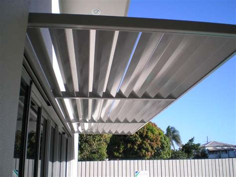 metal louvre awnings awnings colorbond 174 steel aluminium woodgrain