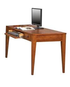 winners only writing desk with center keyboard drawer wo
