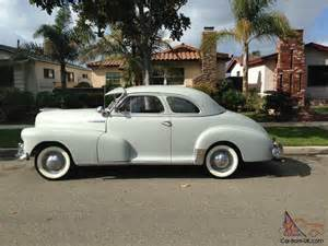 1948 Chevrolet Fleetmaster Coupe 1948 Chevrolet Fleetmaster Fleetline Coupe Unmolested