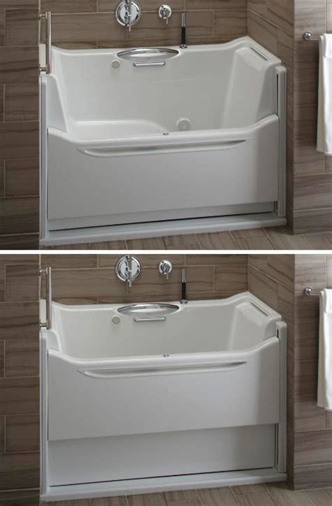 easy access bathtubs easy access bathtubs rising wall bath elevance by kohler