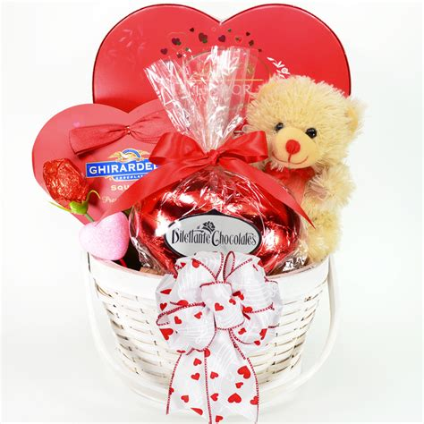 baskets for valentines day chocolate idea for valentines day gift in a white