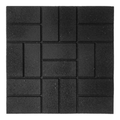 envirotile 24 in x 24 in xl brick black rubber paver 40