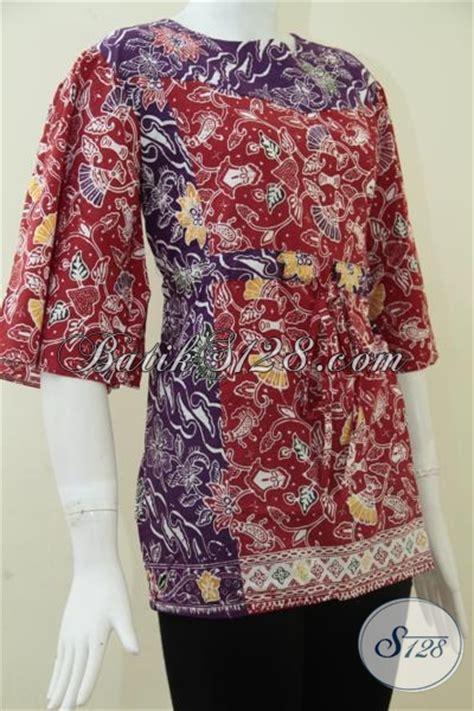 Batik Blouse 363 by Busana Batik Wanita Bertali Depan Blus Batik Wanita Lengan