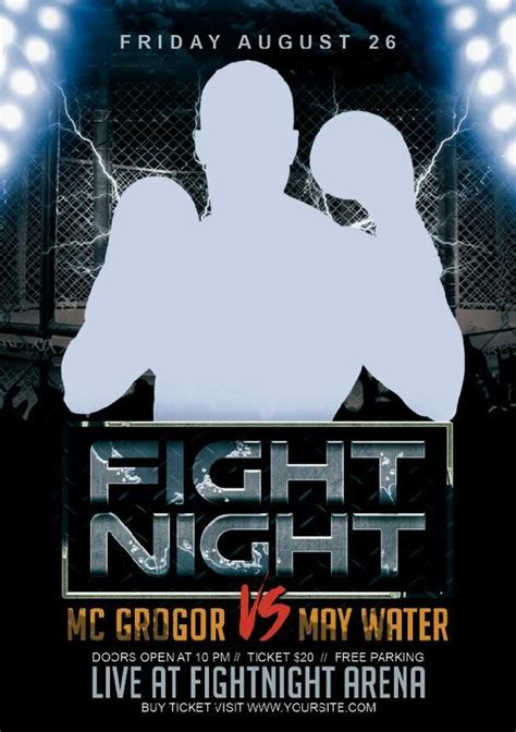 Fight Night Flyer Psd Template Other Psd Free Download Fight Poster Template