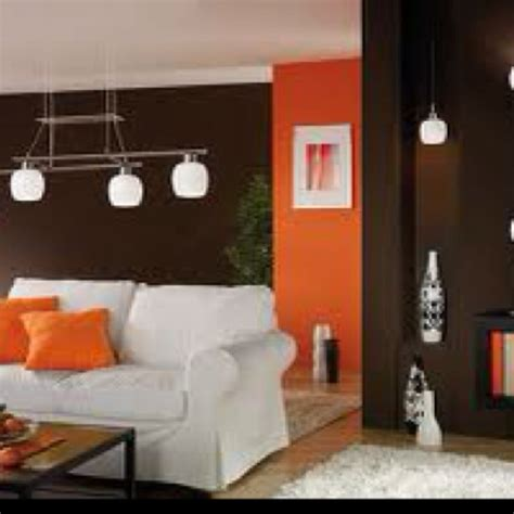 orange and brown living room brown and orange living room house things pinterest