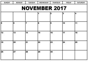 Calendar Template 2017 November December November 2017 Printable Calendar Printable Calendar