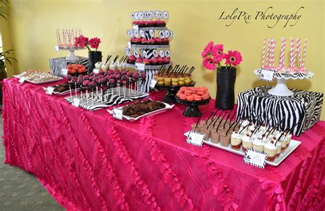 hot pink themes pink zebra theme baby shower party ideas photo 11 of 26