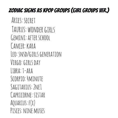 exo zodiac signs what s your horoscope sign girls groups ver k pop amino