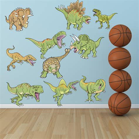 dinosaur wall stickers uk wallstickers folies dinosaur set wall stickers
