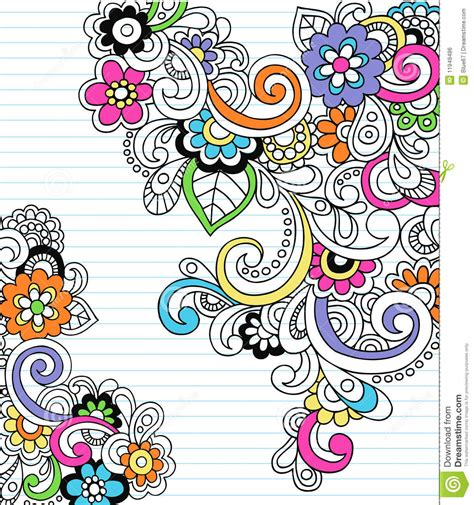 paisley doodle vector free psychedelic paisley notebook doodle vector stock vector