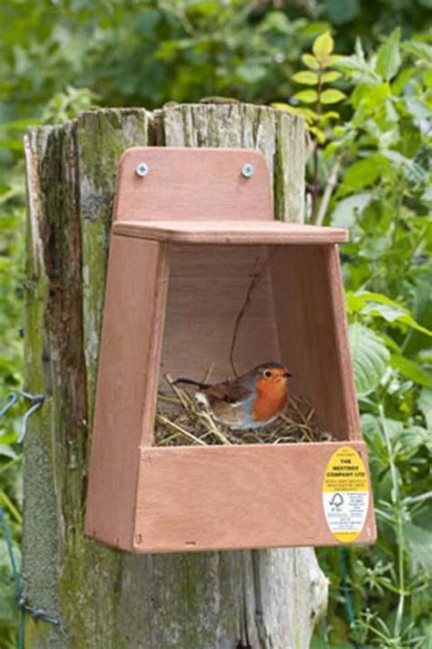 robin nest box nhbs wildlife conservation shop