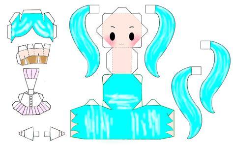 Hatsune Miku Papercraft - melt hatsune miku papercraft template by xorenjijusux on