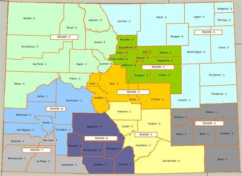 county map of colorado colorado section ares regions and districts colorado ares