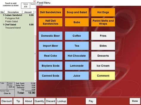 restaurant menu layout software restaurant software from point of success point of success