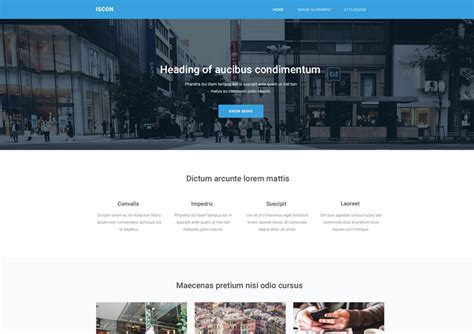 iscon free start bootstrap website templates ease template